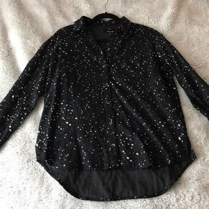 Oversized Ex-Boyfriend Shirt in Star Print